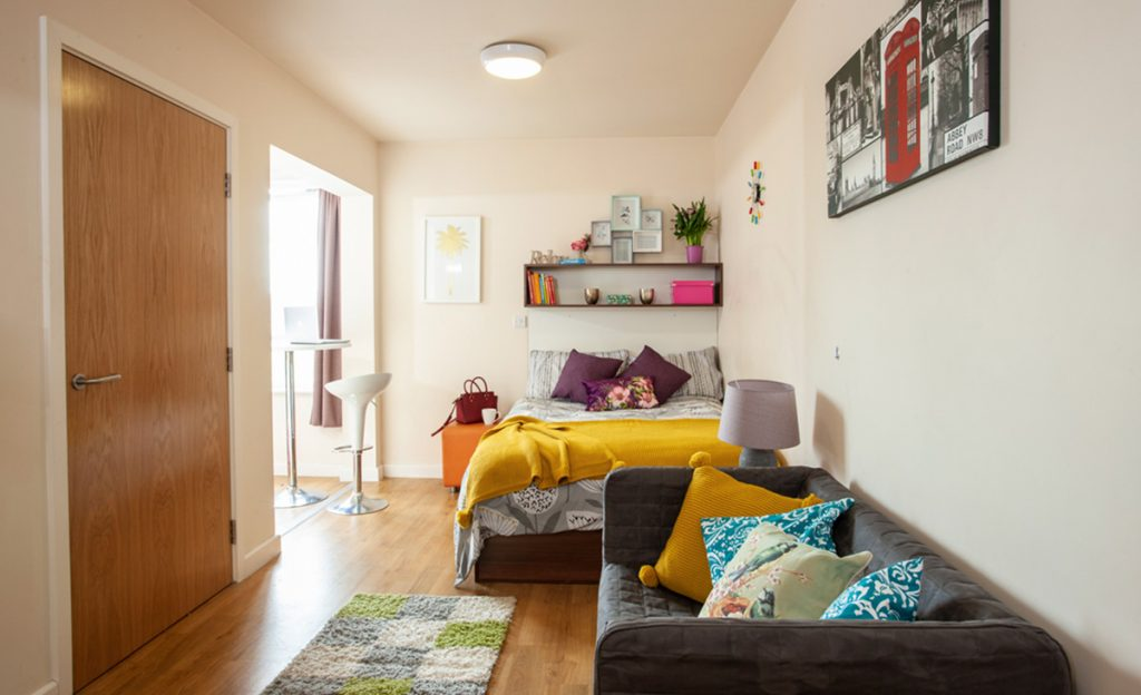 the pavilion student accommodation 1 bedroom apartment 2
