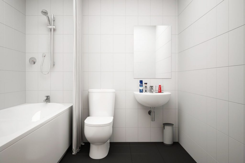 Moss Court bathroom 2 - Moss Court, Birmingham Student Accommodation • AlliedStudents