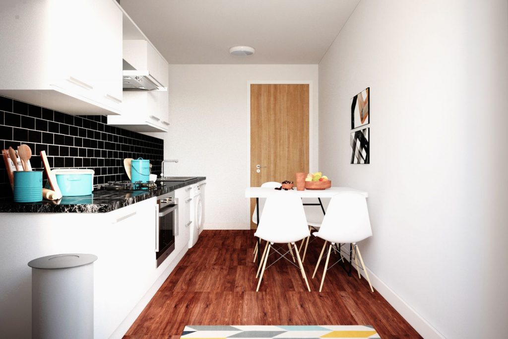 Moss Court kitchen 2 - Moss Court, Birmingham Student Accommodation • AlliedStudents • Book